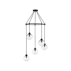 Nicollet Oil Rubbed Bronze Five-Light Pendant