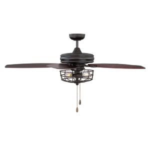 River Station Oil Rubbed Bronze LED Ceiling Fan