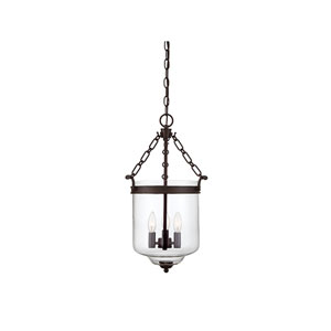 Whittier Oil Rubbed Bronze 13-Inch Three-Light Pendant
