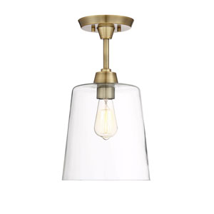 Nicollet Natural Brass 10-Inch One-Light Semi Flush Mount