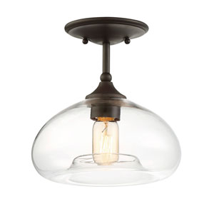 Nicollet Oil Rubbed Bronze 11-Inch One-Light Semi Flush Mount