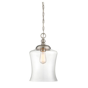 Whittier Brushed Nickel 10-Inch One-Light Mini Pendant