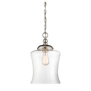 Whittier Polished Nickel One-Light Mini Pendant