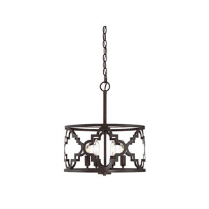 Selby Quatrefoil  Oil Rubbed Bronze Four-Light Pendant