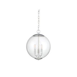 Whittier Chrome Three-Light Globe Pendant