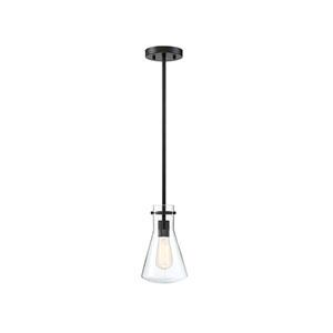 Nicollet Matte Black One-Light Mini Pendant