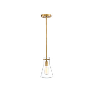 Nicollet Natural Brass 11-Inch One-Light Mini Pendant