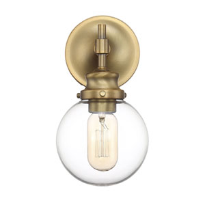 Kenwood Natural Brass 10-Inch One-Light Wall Sconce