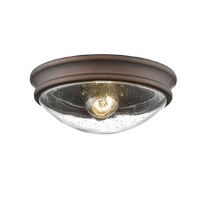 Selby Oil Rubbed Bronze One-Light Flush Mount
