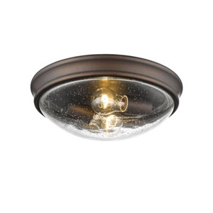 Selby Oil Rubbed Bronze Two-Light Flush Mount