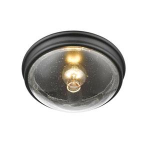 Selby Matte Black One-Light Flush Mount