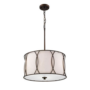 Selby Oil Rubbed Bronze Three-Light Drum Pendant