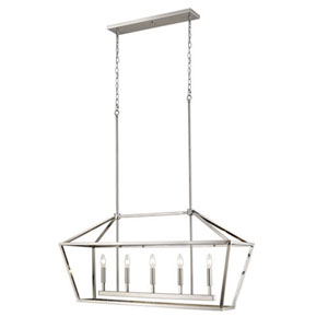 Kenwood Satin Nickel Five-Light Lantern Pendant