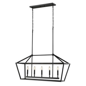 Kenwood Matte Black Five-Light Lantern Pendant