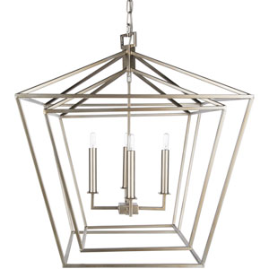 Isles Silver 24-Inch Four-Light Lantern Pendant