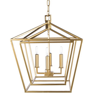 Isles Gold 24-Inch Four-Light Lantern Pendant
