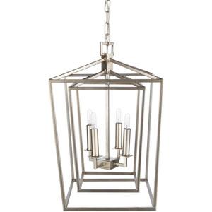 Isles Silver 14-Inch Four-Light Lantern Pendant