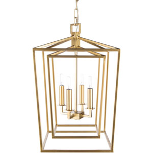 Isles Gold 14-Inch Four-Light Lantern Pendant