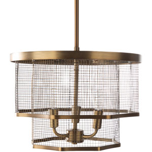Isles Brass 14-Inch Three-Light Pendant