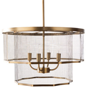 Isles Brass 20-Inch Four-Light Pendant