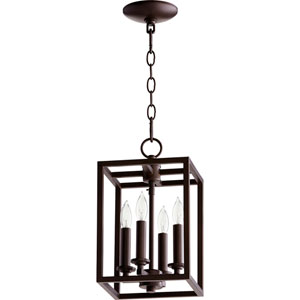 Allen Oiled Bronze Four-Light Mini Pendant