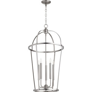Bryan Satin Nickel Five-Light Pendant