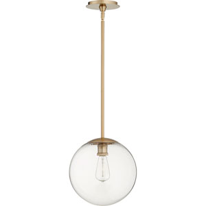 Holland Aged Brass 12-Inch One-Light Pendant