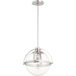 Merton Polished Nickel 15-Inch One-Light Pendant