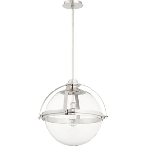 Merton Polished Nickel 20-Inch One-Light Pendant