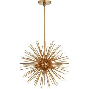 Orion Gold Leaf Six-Light Pendant