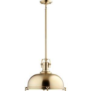 Vista Aged Brass One-Light Pendant