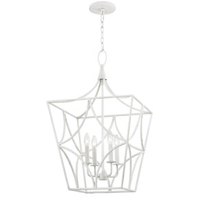 Earlham Green Eight-Inch Four-Light Pendant
