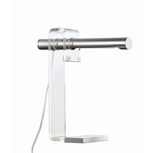 Crescent Silver 16-Inch LED Table Lamp