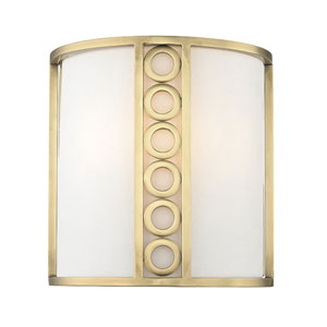 Eastmoor Aged Brass Two-Light Wall Sconce