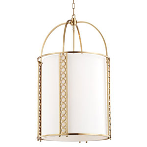 Eastmoor Aged Brass 20-Inch Eight-Light Pendant