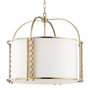 Eastmoor Aged Brass 24-Inch Eight-Light Pendant