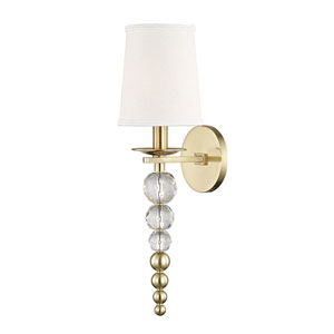 Emily Aged Brass Two-Light Wall Sconce