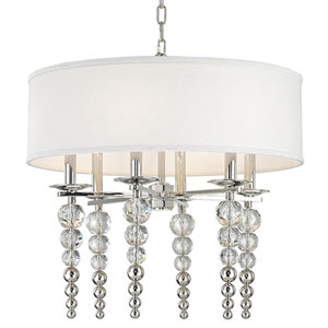 Emily Polished Nickel Six-Light Pendant