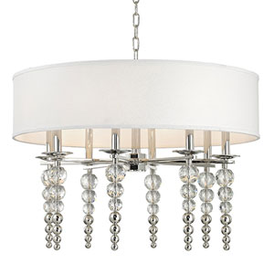 Emily Polished Nickel Eight-Light Pendant