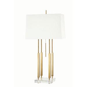Gordon Aged Brass One-Light Table Lamp