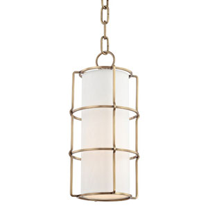 Greene Aged Brass One-Light Mini Pendant
