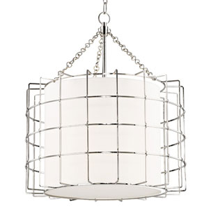 Greene Polished Nickel Three-Light Pendant