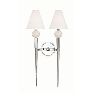 Hampden Polished Nickel Two-Light Wall Sconce
