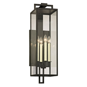 Beatty Forged Iron Four-Light Outdoor Wall Sconce