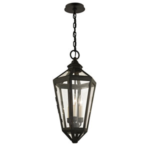 Bruno Vintage Brown Three-Light Outdoor Pendant