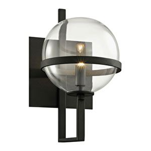 Golding Textured Black One-Light Wall Sconce