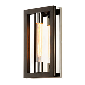 Handel Bronze and Polished Stainless One-Light Wall Sconce