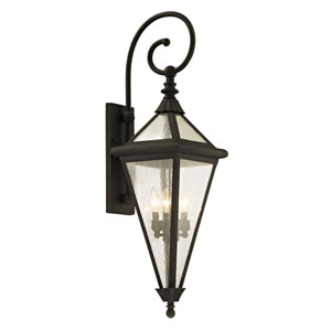 Mitre Vintage Bronze 38-Inch Four-Light Outdoor Wall Sconce