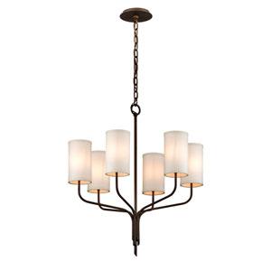 Tallulah Bronze Six-Light Chandelier