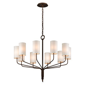 Tallulah Bronze 10-Light Chandelier